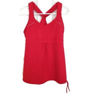 Athleta Horizon Racerback Active Tank Top Red Med